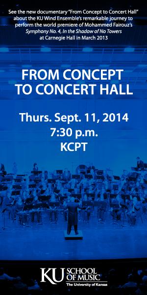 KU Wind Ensemble Documentary KCPT 7:30 p.m. Sept. 11, 2014